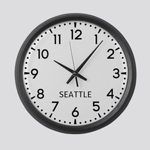 Seattle Newsroom Large Wall Clock