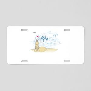 Sand Castle Aluminum License Plate