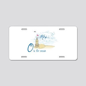 O is for ocean Aluminum License Plate