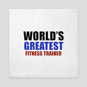 fitness trainer designs Queen Duvet
