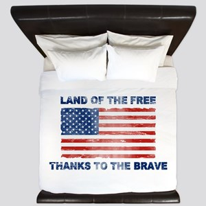 Land Of The Free Thanks To The Brave King Duvet