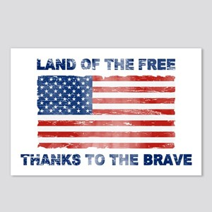 Land Of The Free Thanks To The Brave Postcards (Pa