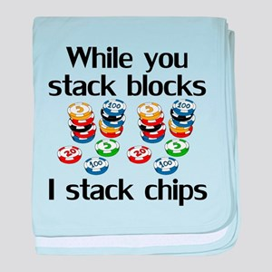 I Stack Chips baby blanket