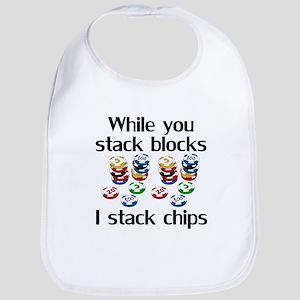I Stack Chips Bib