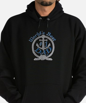 Worlds Best number 1 Dad in Anchor and Rope Hoodie