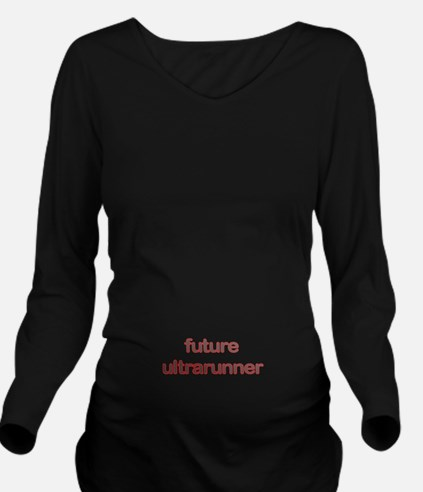 Future Ultrarun Red Long Sleeve Maternity T-Shirt