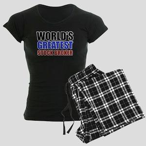 stock broker designs Women's Dark Pajamas