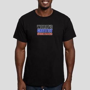 stock broker designs Men's Fitted T-Shirt (dark)