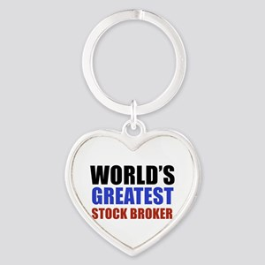 stock broker designs Heart Keychain