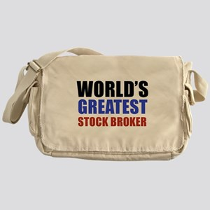 stock broker designs Messenger Bag