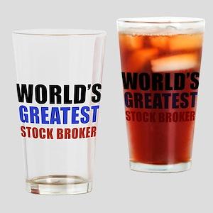 stock broker designs Drinking Glass