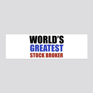 stock broker designs 36x11 Wall Decal