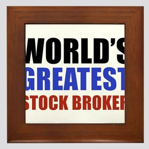 stock broker designs Framed Tile