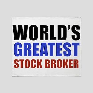 stock broker designs Throw Blanket