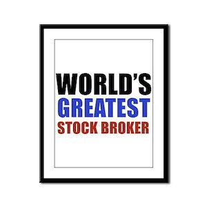 stock broker designs Framed Panel Print