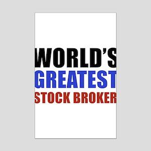stock broker designs Mini Poster Print