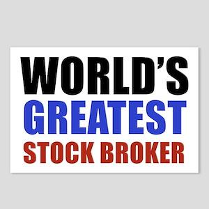 stock broker designs Postcards (Package of 8)