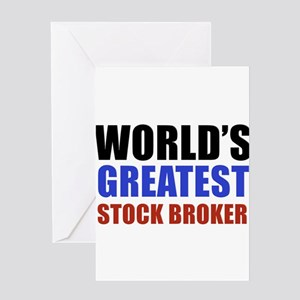 stock broker designs Greeting Card
