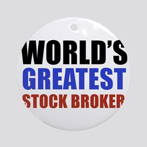stock broker designs Ornament (Round)