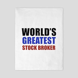 stock broker designs Twin Duvet