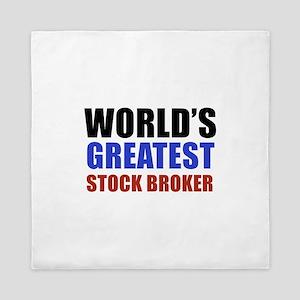 stock broker designs Queen Duvet