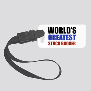stock broker designs Small Luggage Tag