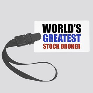stock broker designs Large Luggage Tag