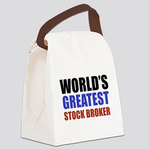 stock broker designs Canvas Lunch Bag