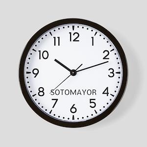 Sotomayor Newsroom Wall Clock
