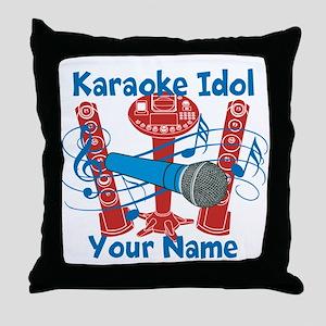 Personalized Karaoke Throw Pillow