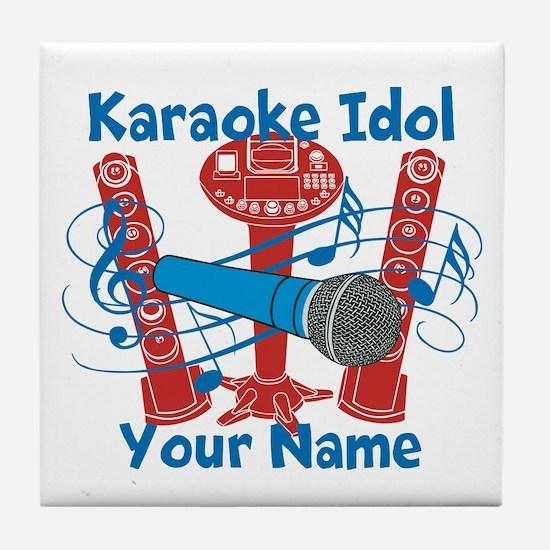 Personalized Karaoke Tile Coaster