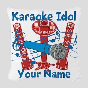 Personalized Karaoke Woven Throw Pillow
