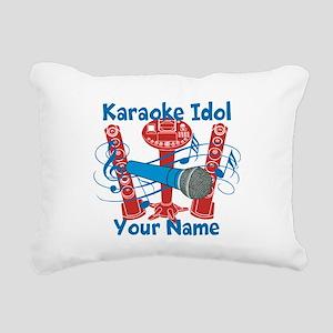 Personalized Karaoke Rectangular Canvas Pillow