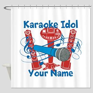 Personalized Karaoke Shower Curtain