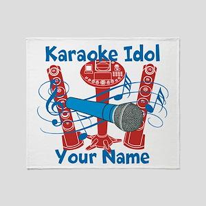 Personalized Karaoke Throw Blanket
