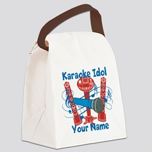 Personalized Karaoke Canvas Lunch Bag