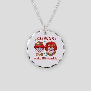 CLOWNS Sparkle Necklace Circle Charm