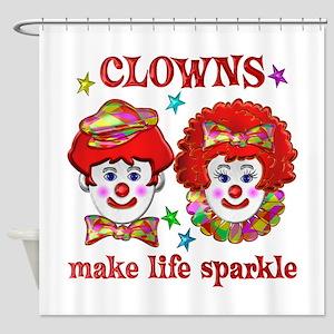 CLOWNS Sparkle Shower Curtain