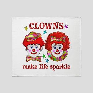 CLOWNS Sparkle Throw Blanket