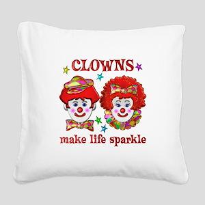 CLOWNS Sparkle Square Canvas Pillow