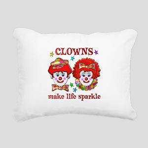 CLOWNS Sparkle Rectangular Canvas Pillow