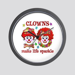 CLOWNS Sparkle Wall Clock