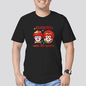 CLOWNS Sparkle Men's Fitted T-Shirt (dark)