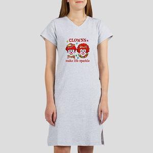 CLOWNS Sparkle Women's Nightshirt