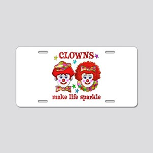 CLOWNS Sparkle Aluminum License Plate