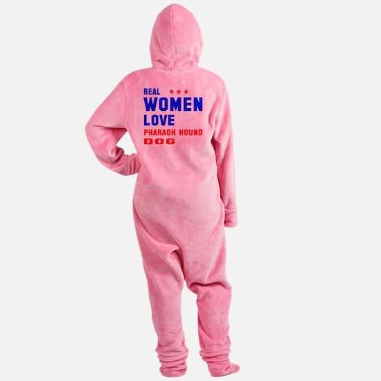 Real Women Love Pharaoh Hound Dog Footed Pajamas