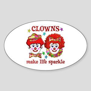 CLOWNS Sparkle Sticker (Oval)