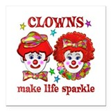 Clown Square Car Magnets