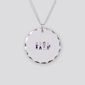 Alzheimers Stick Figures Necklace