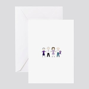 Alzheimers Stick Figures Greeting Cards
